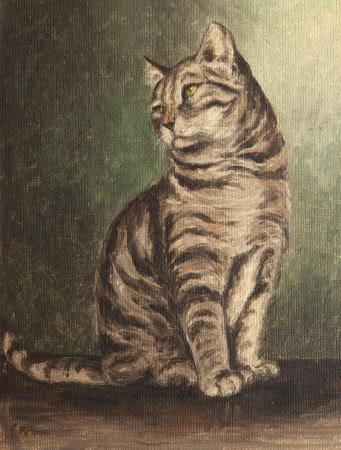 A Tortoiseshell Cat of  Thomas Ferrers' (1931-1952)