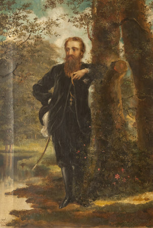 Edward Heneage Dering (1826-1892) in the grounds of Baddesley Clinton