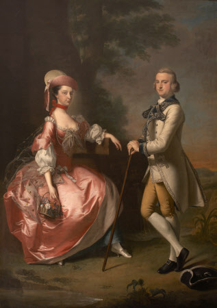 Sir John Pole, 5th Bt (c.1733–1760) and Elizabeth Mills, Lady Pole (1737–1758)