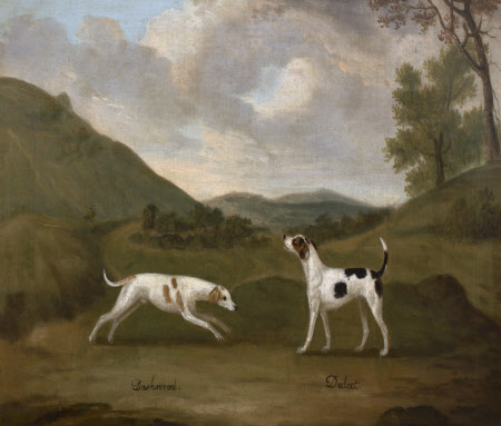 Late Compton's 'Dashwood' and 'Dulcet', a Pair of Hounds