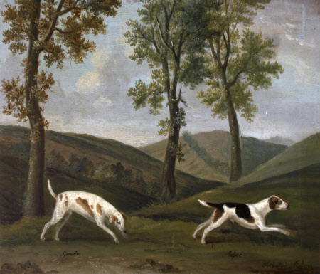 'Pamerton'/'Gamertes'  and 'Jester'/'Tosser', a Pair of Hounds
