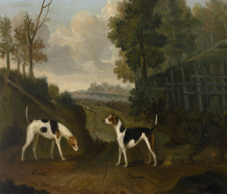 'Harlot' and 'Harmony', a pair of hounds