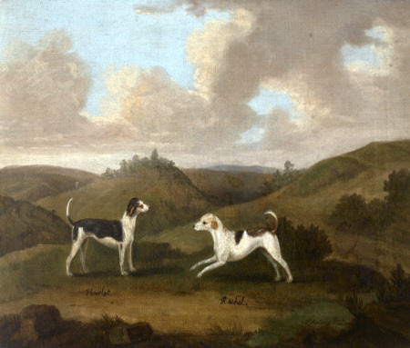 'Harlot' and 'Rachel', a pair of hounds