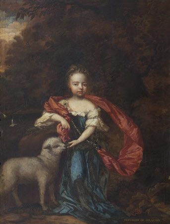 Jane Brownlow, later Duchess of Ancaster (1689-1736) as St Agnes