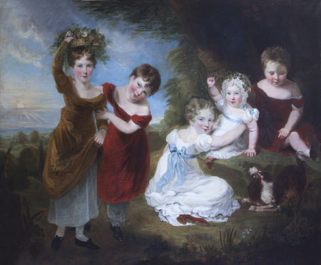 The Children of The Hon. Reverend Henry Cockayne Cust (1780-1861) and Lady Anna Maria Elizabeth ...