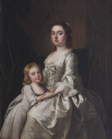 Etheldred Payne, Lady Cust (1720-1775) and her son Brownlow Cust later Sir Brownlow Cust, 1st Baron ...