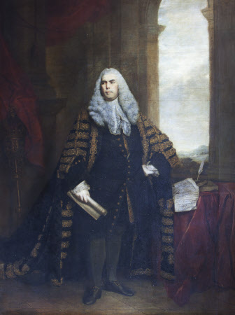 The Hon. Sir John Cust, 3rd Bt of Pinchbeck and 6th Bt of Humby (1718-1770) in Speaker's Robes