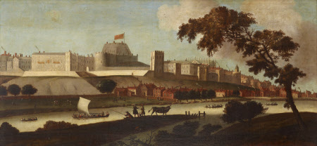 View of Windsor Castle from the River, as it was in the Reign of King James I