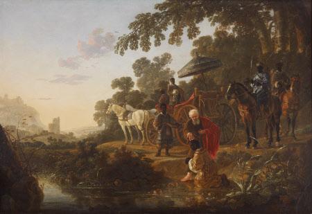 Saint Philip the Evangelist baptising the Ethiopian Eunuch