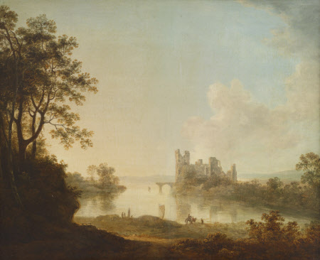 Ruined Castle on a Lake
