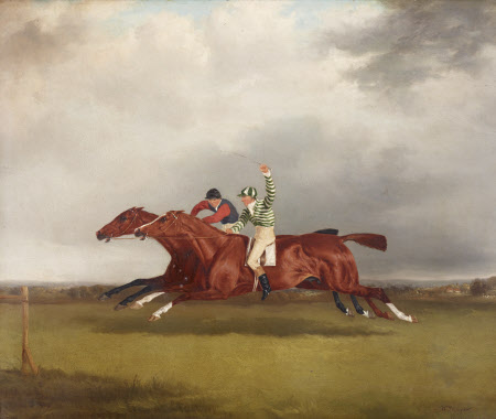 Horserace between Mr T. Cosby's 'Copper Captain' and Lord Lichfield's 'Minster', October 1833