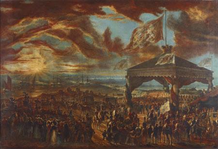 King George IV (1726-1830) leaving Ireland and embarking in Kingstown, 3rd September 1821