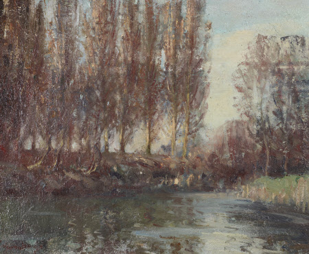 The Mill Pool, Anglesey Abbey Garden: Winter 1949