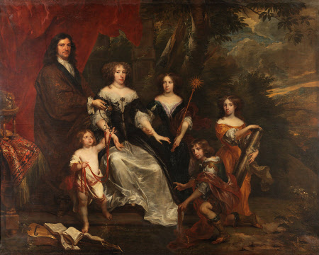 A Family Group with Children with Emblems of the Cardinal Virtues