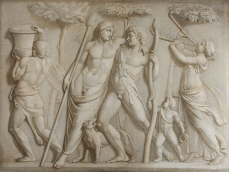 Bacchus (Dionysus), Ampelos, Silenus and a Maenad