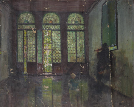 Interior Scene of possibly the portego of the Palazzo Donà, Venice