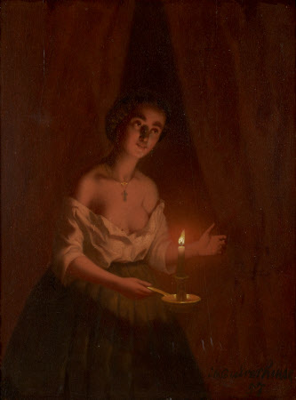 Young Lady in Candlelight