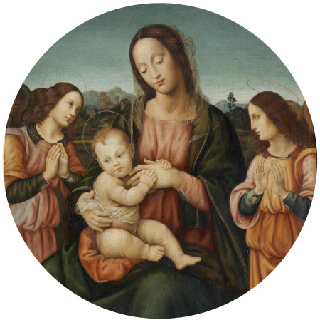 The Madonna and Child and two Angels (after Sogliani)