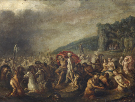 Triumph of Neptune and Amphitrite with Distant Figures feasting in a Cave