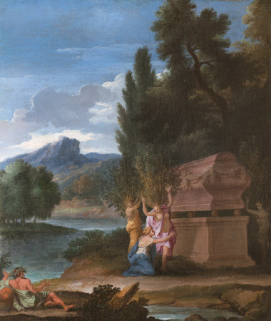 Landscape with the Sisters of Phaeton transfomed into Poplars at his Tomb, and the River God Padus ...