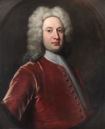 An Unknown Gentleman in an Orange-Red Coat