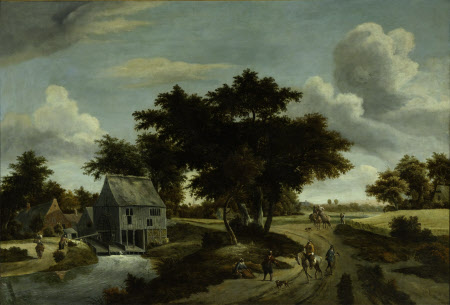 A Wooded Landscape with a Mill