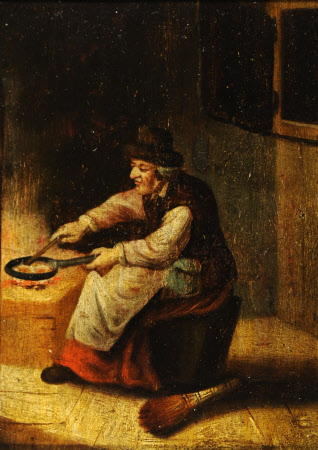 A Woman frying Eggs