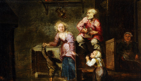 A Peasant Family in a Kitchen