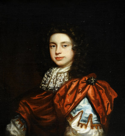 An Unknown Young Man wearing a Red Cloak and a Lace Cravat