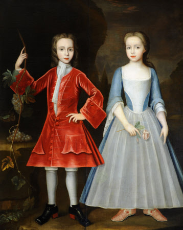 Edward Harpur (1713 – 1761) and his Sister Catherine Harpur, later Lady Gough (d.1740) as Children