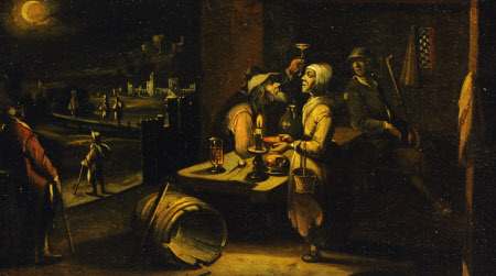 A Man and Woman at Table