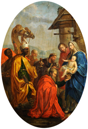 Adoration of the Three Kings (firescreen)