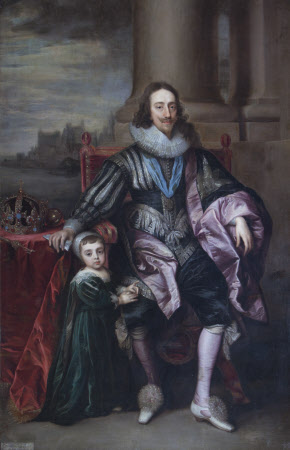 King Charles I (1600-1649) and his son Charles, Prince of Wales, later King Charles II (1630-1685)