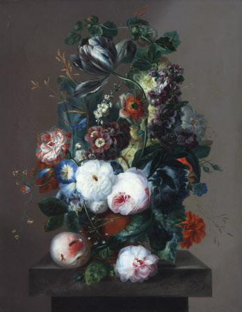 Summer Flowers in a Terracotta Vase