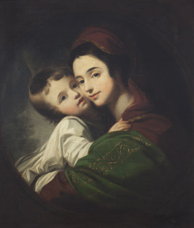 The Artist's Wife, Elizabeth Shewell, Mrs Benjamin West (1741-1814) and their Son Raphael Lamar ...