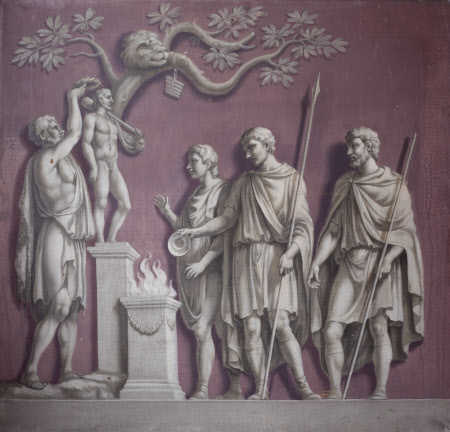 Figures crowning a Statue of Hercules (from the Arch of Constantine)