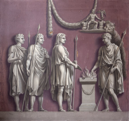 Emperor Trajan sacrificing to Mars Victorius (from the Arch of Constantine)