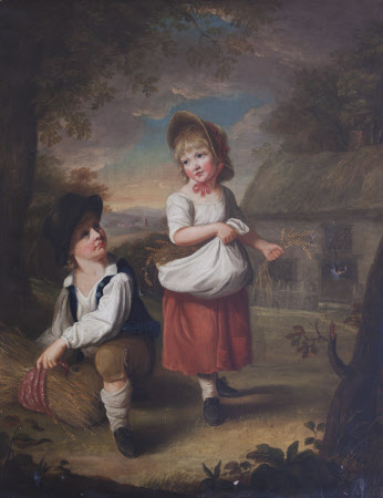 The Hon. Sir Edward Cust, later 1st Baron Cust of Leasowe Castle, Cheshire and his sister the Hon. ...