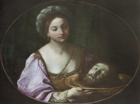 Salome holding the Head of John the Baptist on a Charger