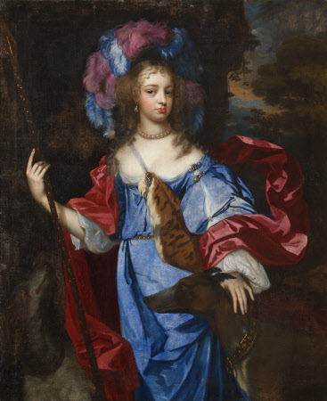 Elizabeth Cornwallis, Mrs Edward Allen (d. 1708), as Diana the Huntress