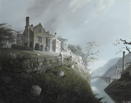 A Capriccio of Benthall Hall and the Iron Bridge, Ironbridge Gorge, Shropshire