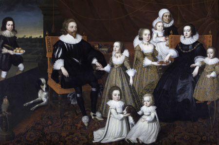 Sir Thomas and Lady Lucy with Seven of their  Children