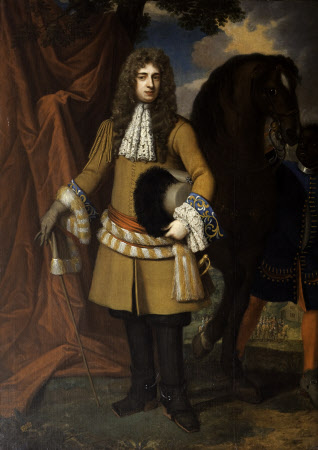 Captain Thomas Lucy (c.1655 – 1684) and an unidentified groom