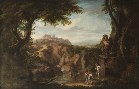 Classical Landscape with Fishermen