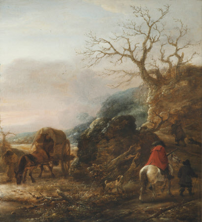 Landscape with Horseman and a Cart