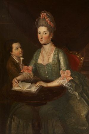 Theodosia Hawkins-Magill, Countess of Clanwilliam (1743 - 1817) with her Son, Richard, Lord ...