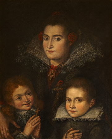 An Unknown Mother with Two Children