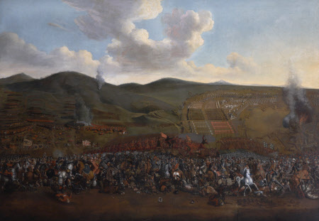 A Battle Scene and Siege: Turks and Poles Fighting