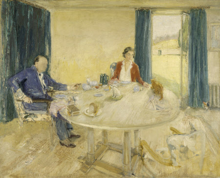 Study for Breakfast at Chartwell II, Sir Winston Churchill (1874-1965) and Clementine Ogilvy ...