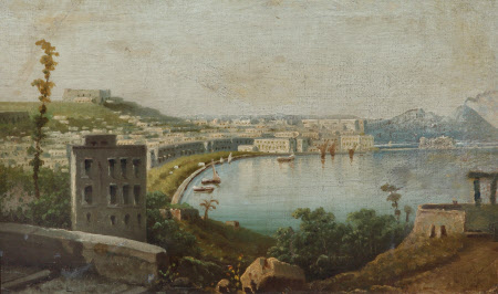 View of the Bay of Naples, with the Chiaia
